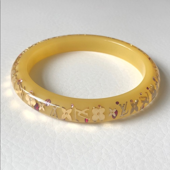 Louis Vuitton Jewelry - Louis Vuitton yellow resin bangle bracelet
